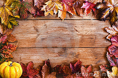 Autumn Leaves Frame Border