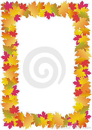 Autumn leaves frame (maple)
