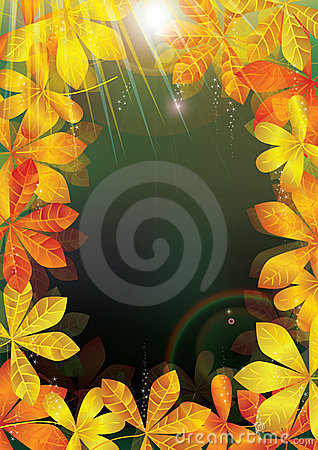Autumn Leaves Light Frame_eps