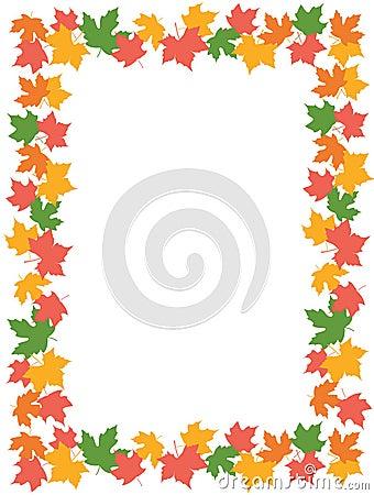 Free Autumn Leaves [maple] Border Royalty Free Stock Photo - 9972015