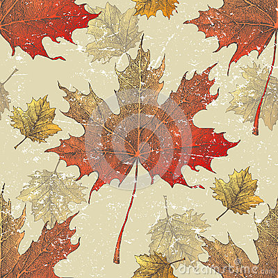 Autumn leaves seamless