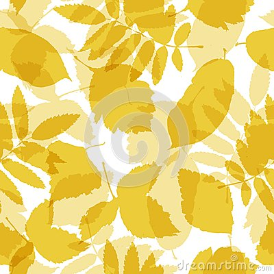 Autumn leaves seamless pattern for your design