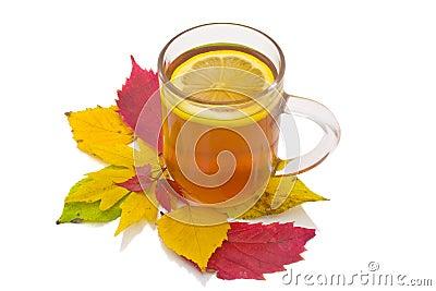 Autumn lemon tea