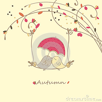 Autumn love card