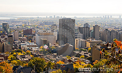 Autumn Montreal City Skyline