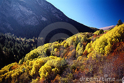 Autumn mountains colours