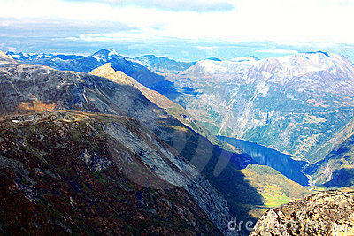 Autumn mountains of Scandinavia