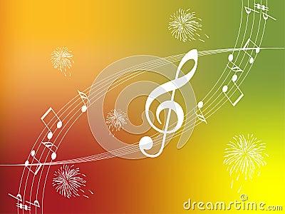 Autumn music illustration.