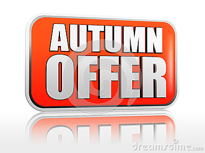 Autumn offer banner