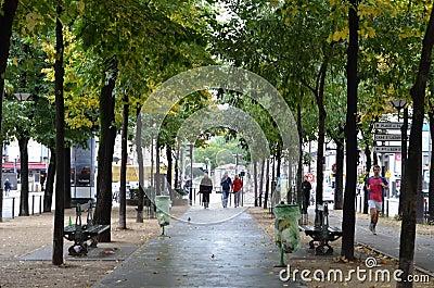 Autumn  in Paris Editorial Image