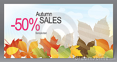 Autumn promotional flyer