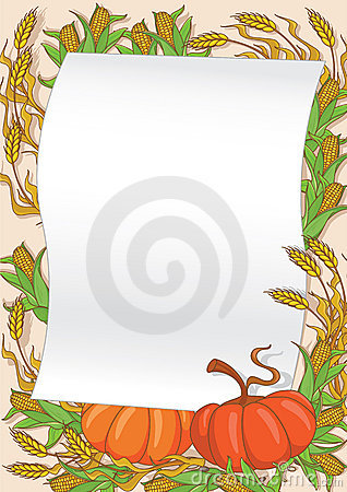Autumn and pumpkin background