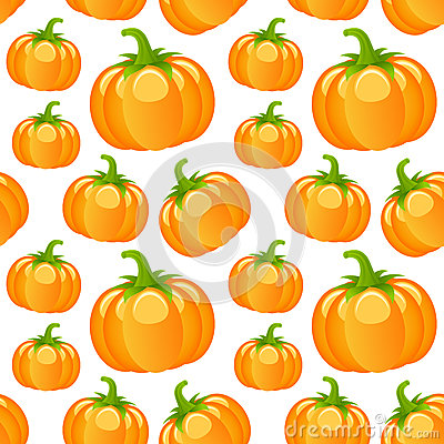 Autumn Pumpkins Seamless Pattern