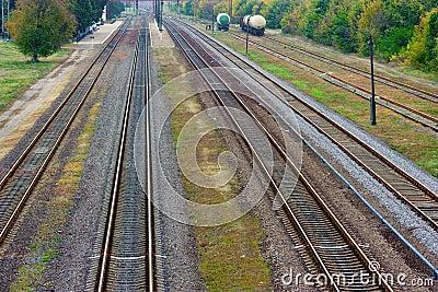 Autumn railway station