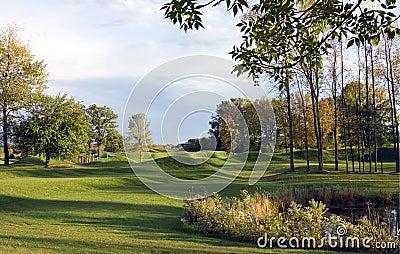 Autumn Rain Golf Course