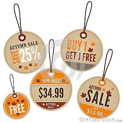Autumn Retail Labels