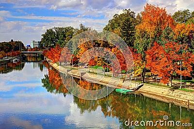 Autumn on river Bega