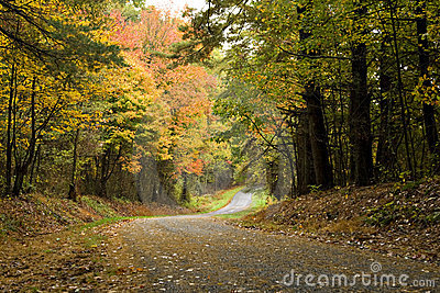 Autumn Road through the mountains