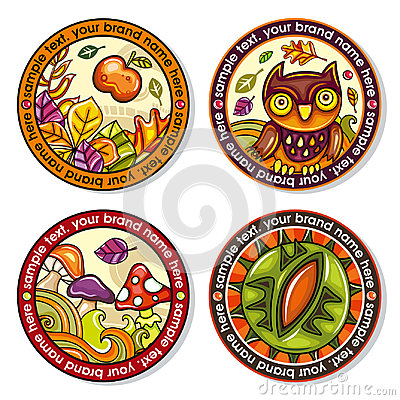 Free Autumn Round Drink Coasters Royalty Free Stock Photo - 97921285