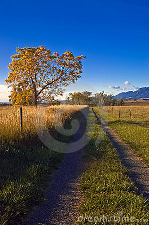 Autumn Rural Country Road in Boulder Colorado