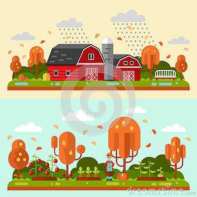 Free Autumn Rural Landscape Royalty Free Stock Images - 76864389