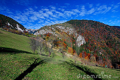 Autumn rural landscape in Romania mountains