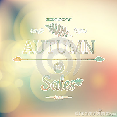 Free Autumn Sale On Defocused Background. EPS 10 Stock Photography - 54724132