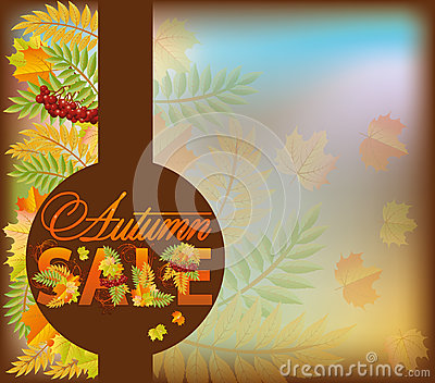 Autumn sale shop card