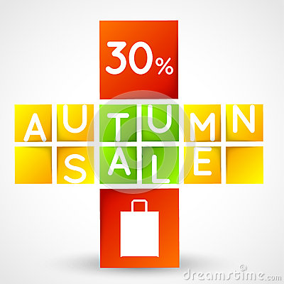 Autumn sale squares template
