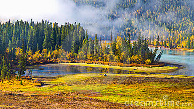 Autumn scenery @ Fairy Bay, Kanas, Xinjiang China