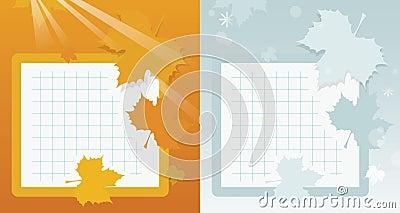 Autumn school background
