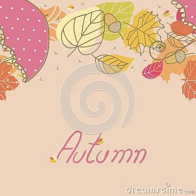 Autumn, seamless border
