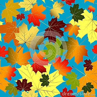 Autumn seamless pattern (vector)