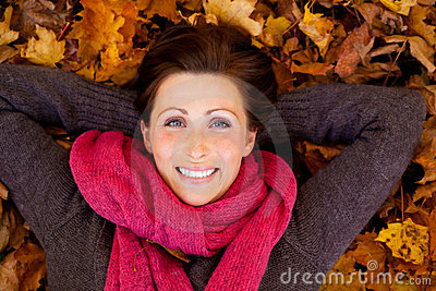 Autumn season woman