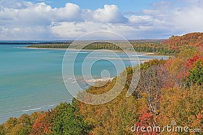 Autumn Shoreline Lake Michgan