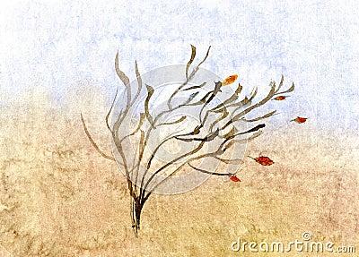 Autumn sketch - hand drawn illustration