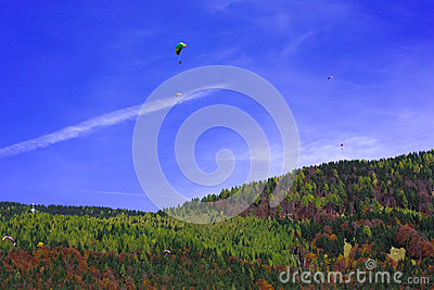 Autumn skydiving