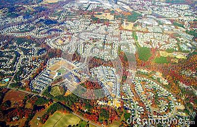 Autumn suburbia