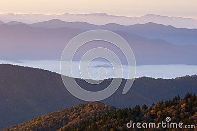 Autumn Sunrise Smoky Mountains