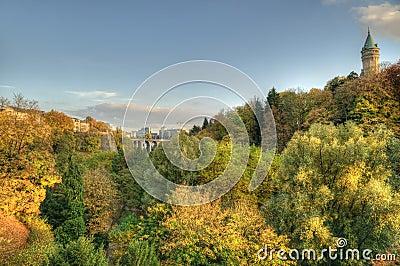 Autumn sunset in Luxembourg