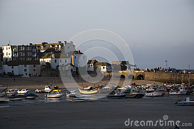 Autumn sunshine over St Ives Harbour Editorial Image