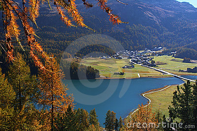 Autumn swiss landscape