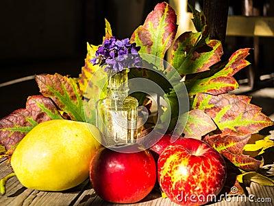 Autumn table arrangement