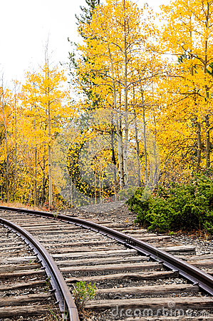 Free Autumn Train Tracks Royalty Free Stock Images - 49033969