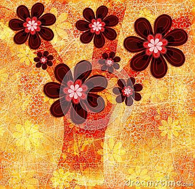 Autumn Tree Abstract Illustration