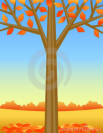 Autumn Tree Background/eps