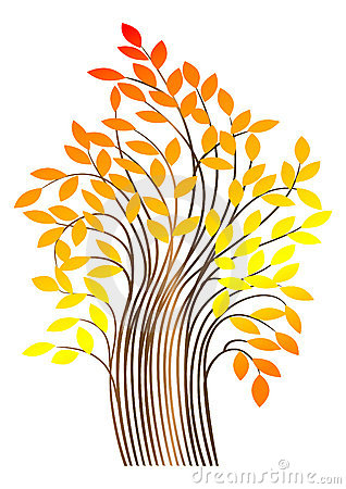 Autumn tree. vector