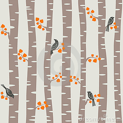 Autumn Trees Pattern Royalty Free Stock Photos - Image: 16263808