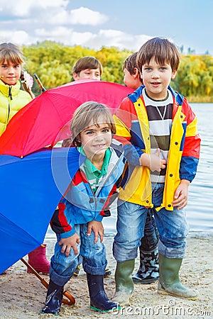 Autumn umbrellas