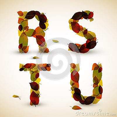 Autumn Vector alphabet letters / font